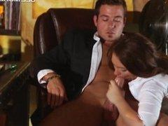 Sexy secretary Maddy Oreilly fucked hard