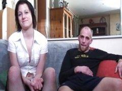 French slut casting babe cuckold