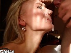 Blonde MILF gets facialized