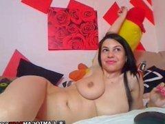 Naked girl lives chatting sex on webcam