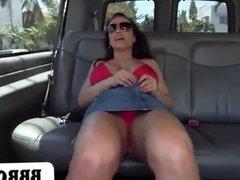 Pornstar Lisa Ann on the original BangBus