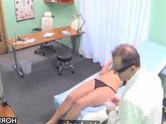 Blonde babe cheats her bf with horny doctor