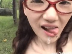 Schoolgirl From Japan Covered In Bukkake Cum