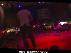 Hot biker stripper live stage show