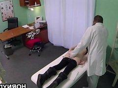 Doctor fucks skinny girl
