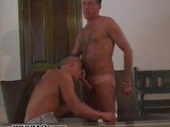 Tanned Mature Gay Cock Slurping