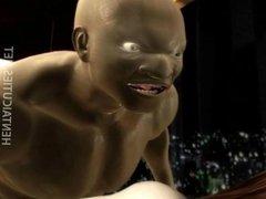 Horny 3D anime slut ride prick