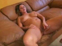 Chubby Milf Masturbating and Sucking