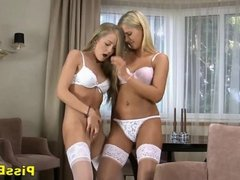 Amateur Teen Lesbians Pissing In Stockings