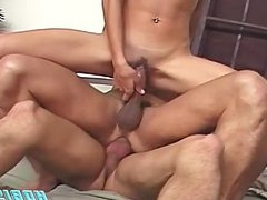 Bisexual Threesome Stack Sex