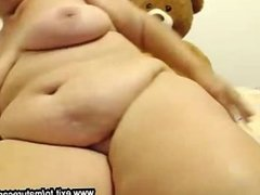 Webcam fun busty BBW granny Chrissy