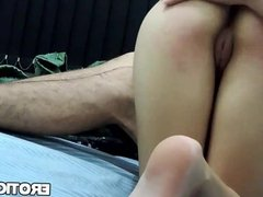 Babe gets ass spanked softly