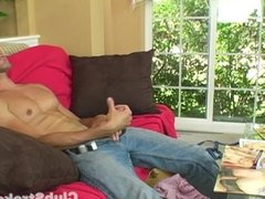 Brunette Straight Guy Jeremy Masturbating