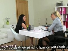 Lesbian amateur female agent casting