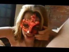 Masked Cougar Sucks Dick