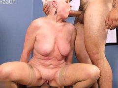 Busty daughter awesome cumshot