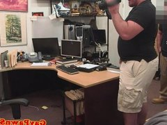 Straight pawnshop amateur must strip for cash