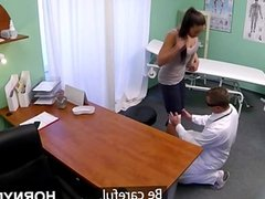 Czech MILF sucks the doctor's cock