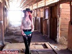 Canadian Cowgirl Shanda Gets Fucked in Barn!