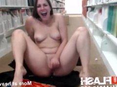 Loud masturbation at a public library