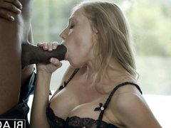 BLACKED Petite Blonde Screams On Huge Black D