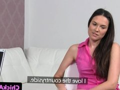 Casting babe eats agents pussy