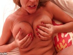 MILF with big milky lactating tits