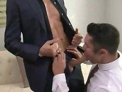 Michael Lucas & Seth Treston Suited Raw Fuck