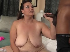 Mature BBW Angelina interracial Sex