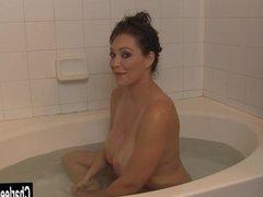 Big Tit MILF Charlee Chase Bathtub BJ
