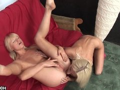 Blonde babes are having pussy licking fun tog