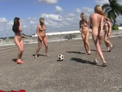Teen amateurs outdoors at college humiliated