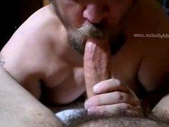 Big Cock Daddybear Gets a Hot Blowjob