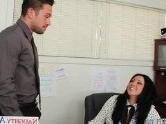 Office babe Audrey Bitoni gets nailed