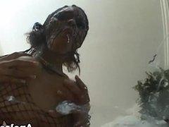 Ebony babe Marie Luv gets ass fucked