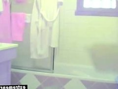 42 years old hairy Emma spied in bathroom