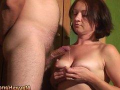2 cumshots on Maya bare tits