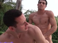Jocks and twinks climax during outdoor orgy