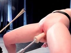 Blonde gets clit rubbed and dildoed