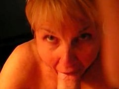Horny Mature Lady sucking a hard cock