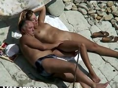 Mature couple lost a bet & fuck in public