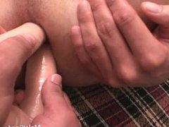 Nasty queer is sucking a monster cock
