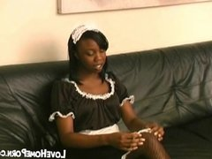 Black maid gets hard spanked