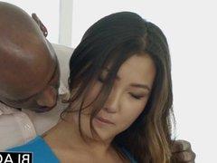 BLACKED Asian Jade Luv Screams on BBC