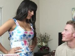 Fake titted mom Mercedes Carrera fucking hard