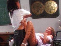 Girl fun in the classroom