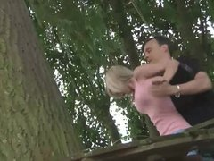 Master exploits two blonde teens in bdsm