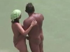 Mature Couple lost a bet & fuck on the beach