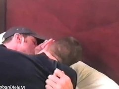 Horny queer is sucking a massive penis