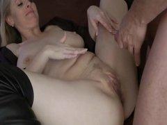 Big ass european girl fucks and cum shot